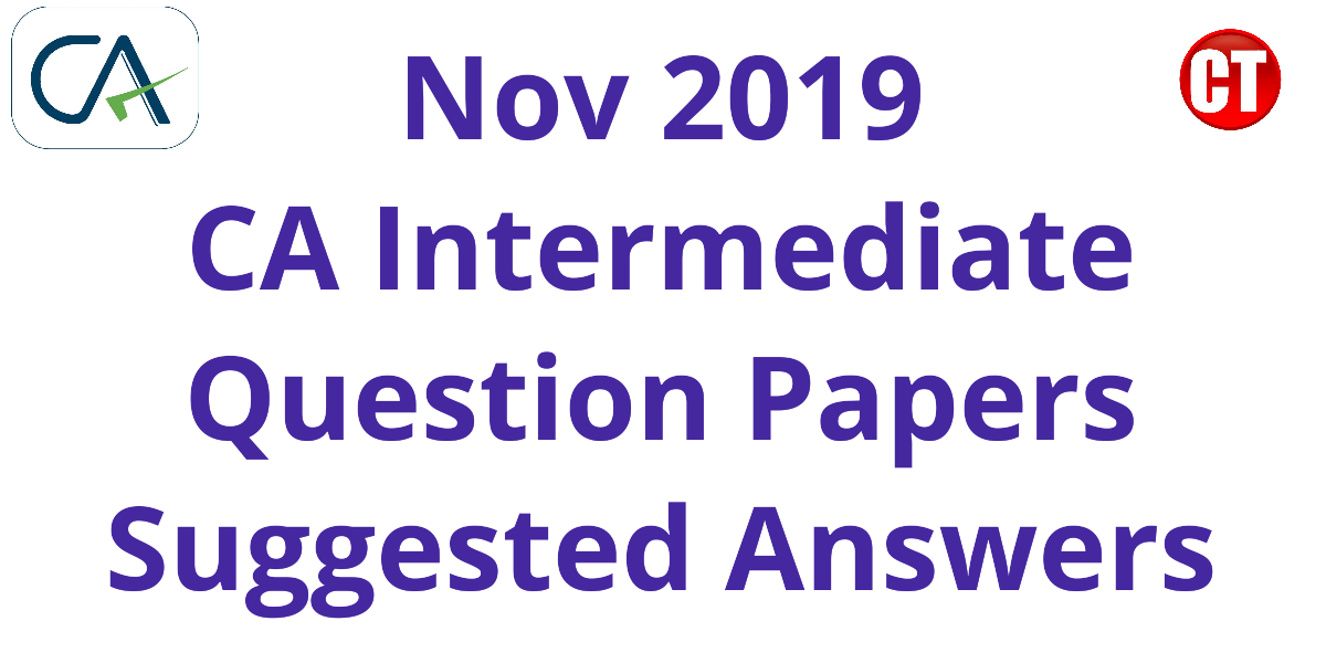 CA IPCC Question Papers - November 2019