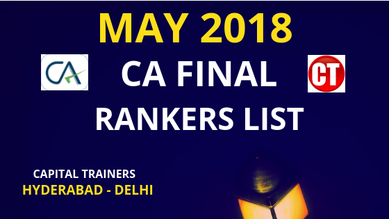 ca final rankers list may 2018