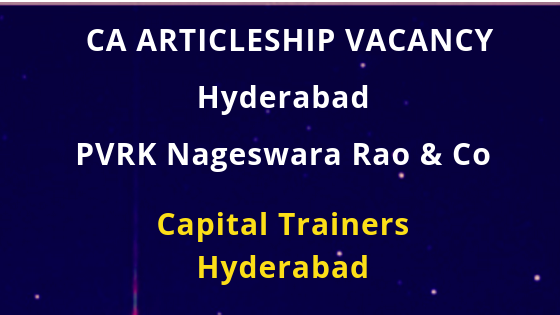 P V R K NAGESWARA RAO AND CO, CHARTERED ACCOUNTANTS, HYDERABAD